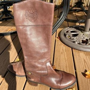Etienne Aigner chocolate riding boots
